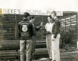 F.F.A. boys outside Rieke's plant stand in 1959