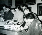 F.F.A. boys with shipment of medicines from Lederle circa 1954