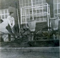 F.F.A. boys working outside the shop at Shawnee Mission High School circa 1954