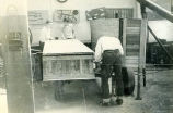 F.F.A. boys working in shop at Shawnee Mission High School circa 1950
