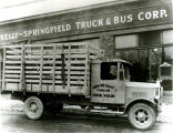 Kelly-Springfield truck for Harry Woltkamp's general hauling business of Stilwell