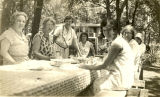 Merriam Homemakers Club members at a picnic