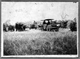 Threshing machine and crew