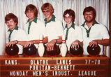 Bowling league for Puritan Bennett circa 1977