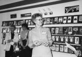 Jeanne Savage at Sounds Easy video store in 1984