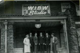 F.F.A. boys in front of WIBW Studio in Topeka circa 1950