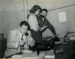Telephone desk at the headquarters for the F.F.A. National Convention circa 1950