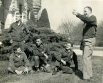 F.F.A. boys visiting Kansas State University in Manhattan, KS., circa 1951