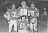 Football players with plaque